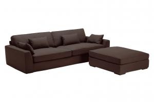 Epipla Gousdovas brown sofa