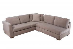 Epipla Gousdovas corner white sofa